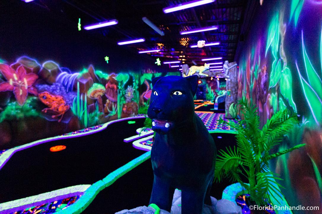 Destin Things To Do - Rainforest Black Light Golf & Arcade - Original Photo