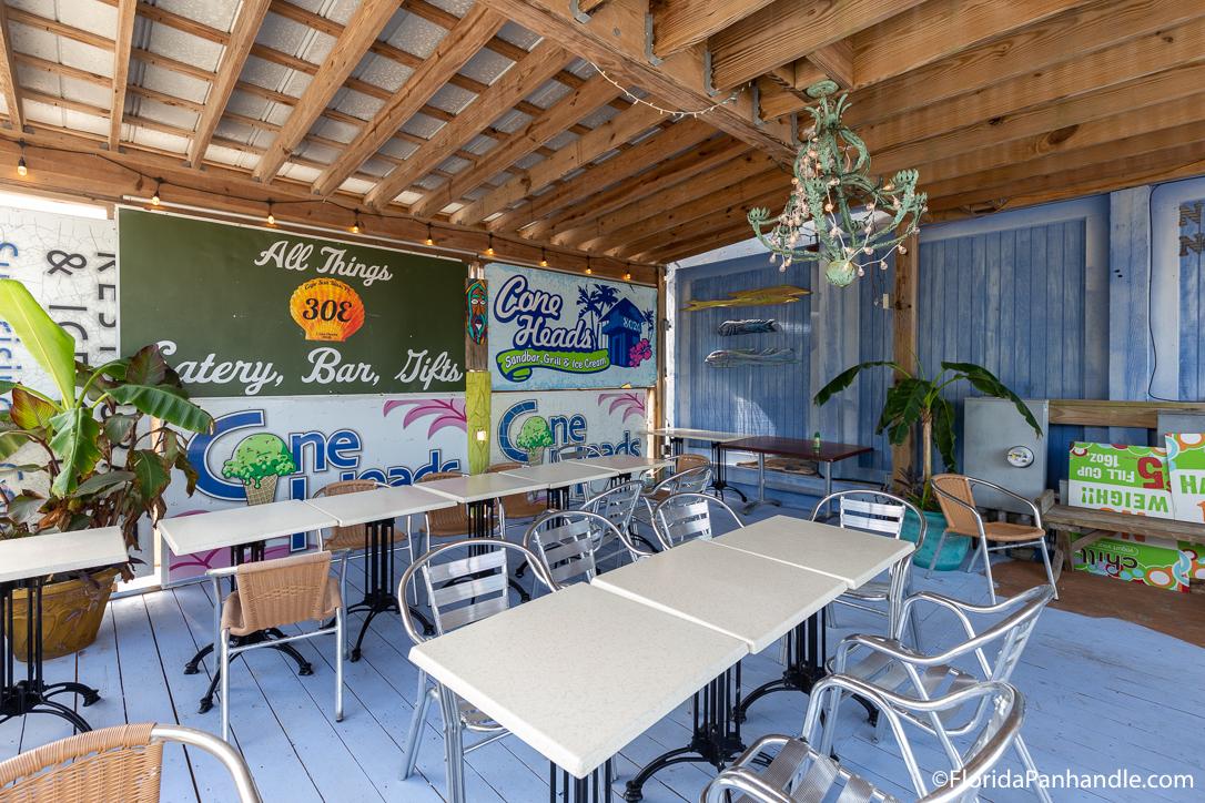 Cape San Blas Restaurants - Cone Heads 8020 - Original Photo