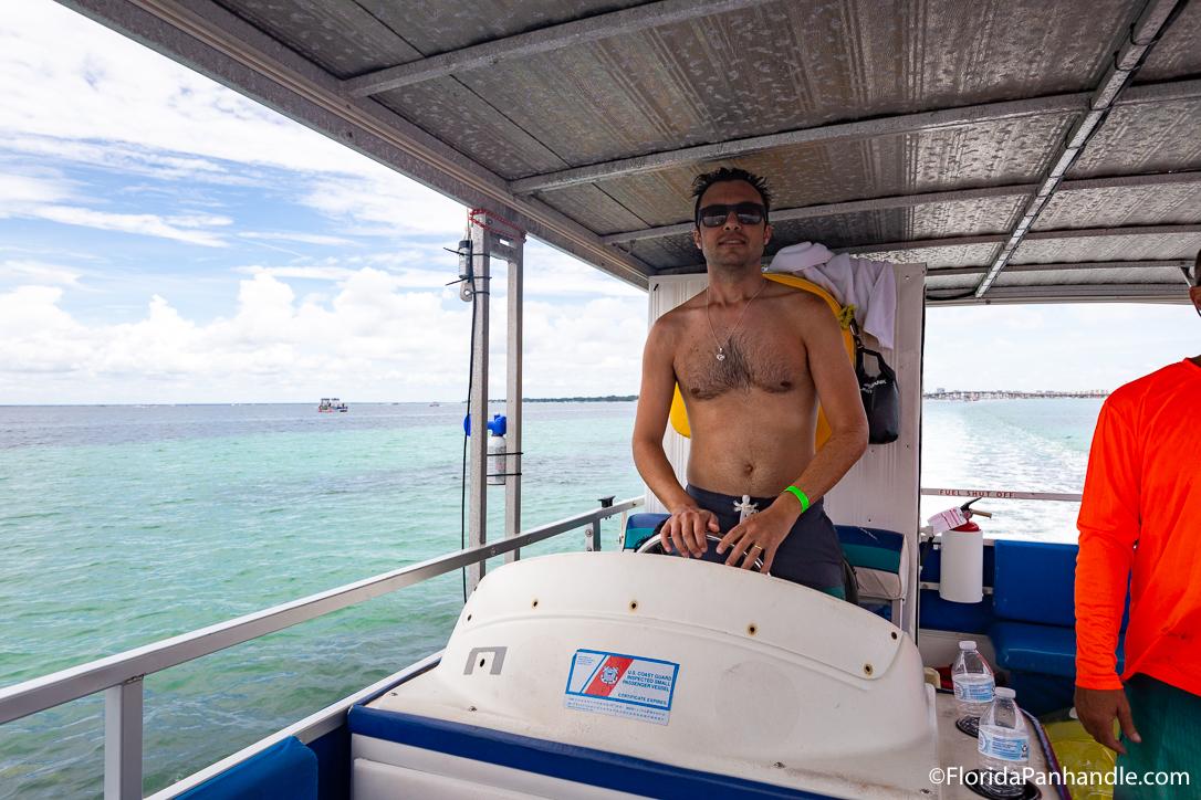 Destin Things To Do - Crab Island Water Taxi - Original Photo