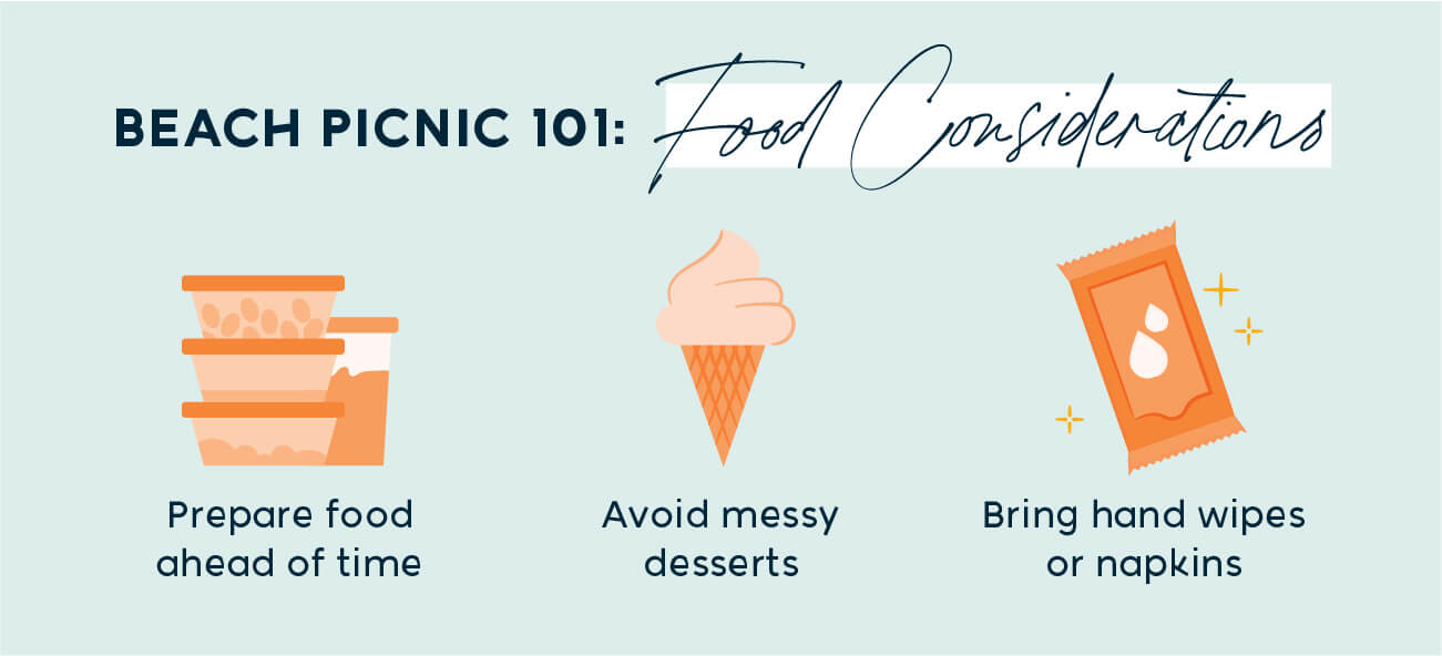 food considerations for a beach picnic