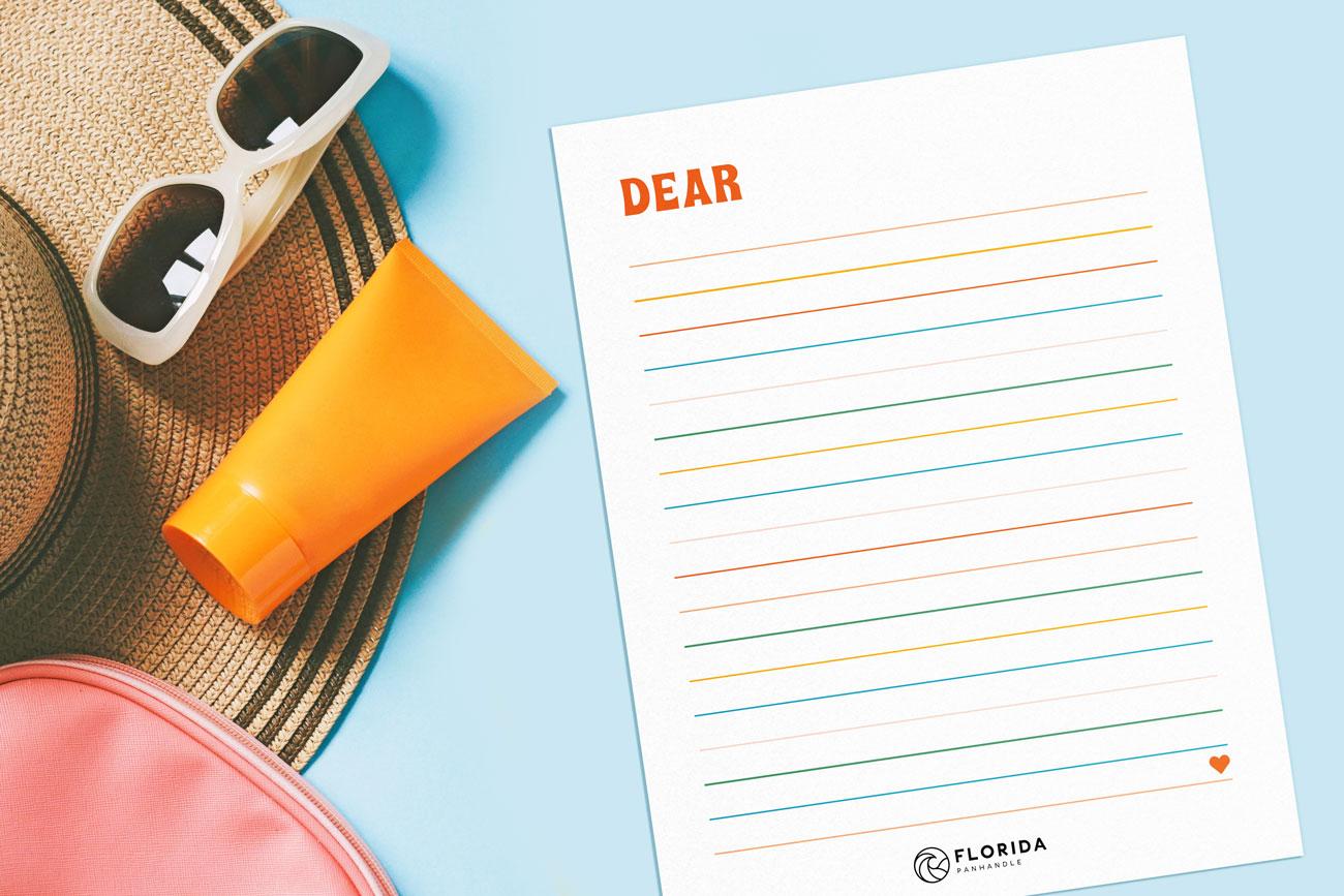 summer themed letter template