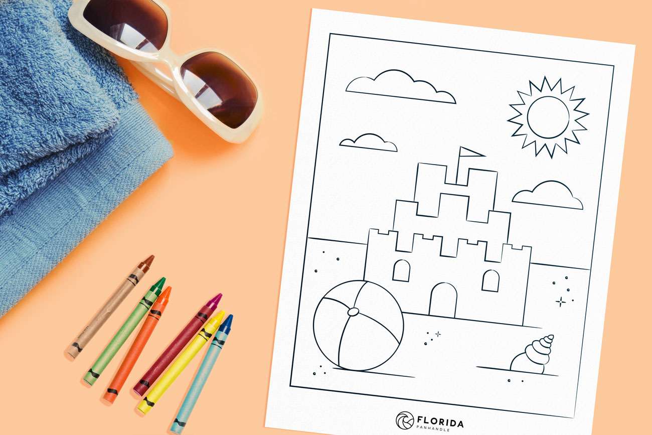 summer themed coloring page