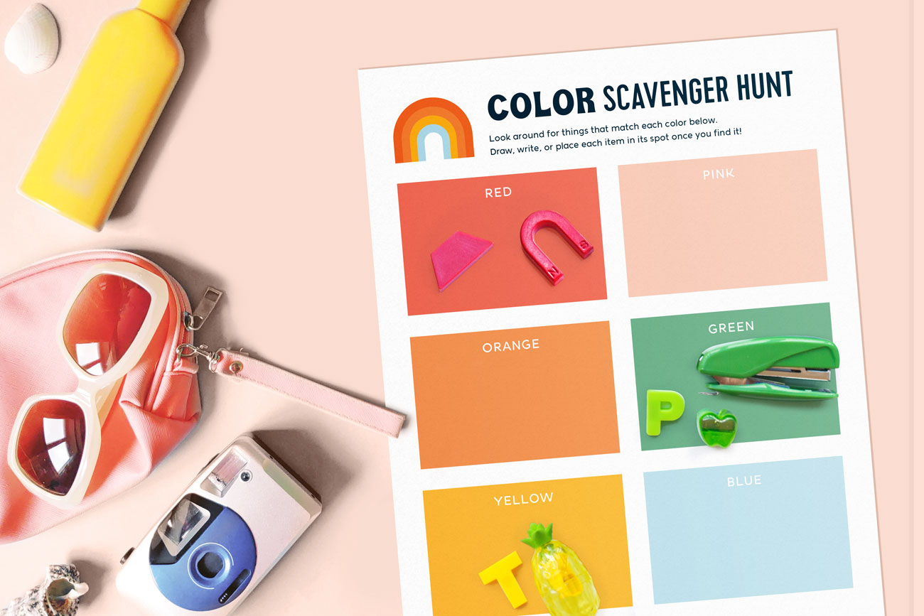 color scavenger hunt template