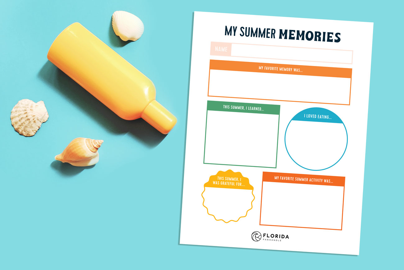 my summer memories template