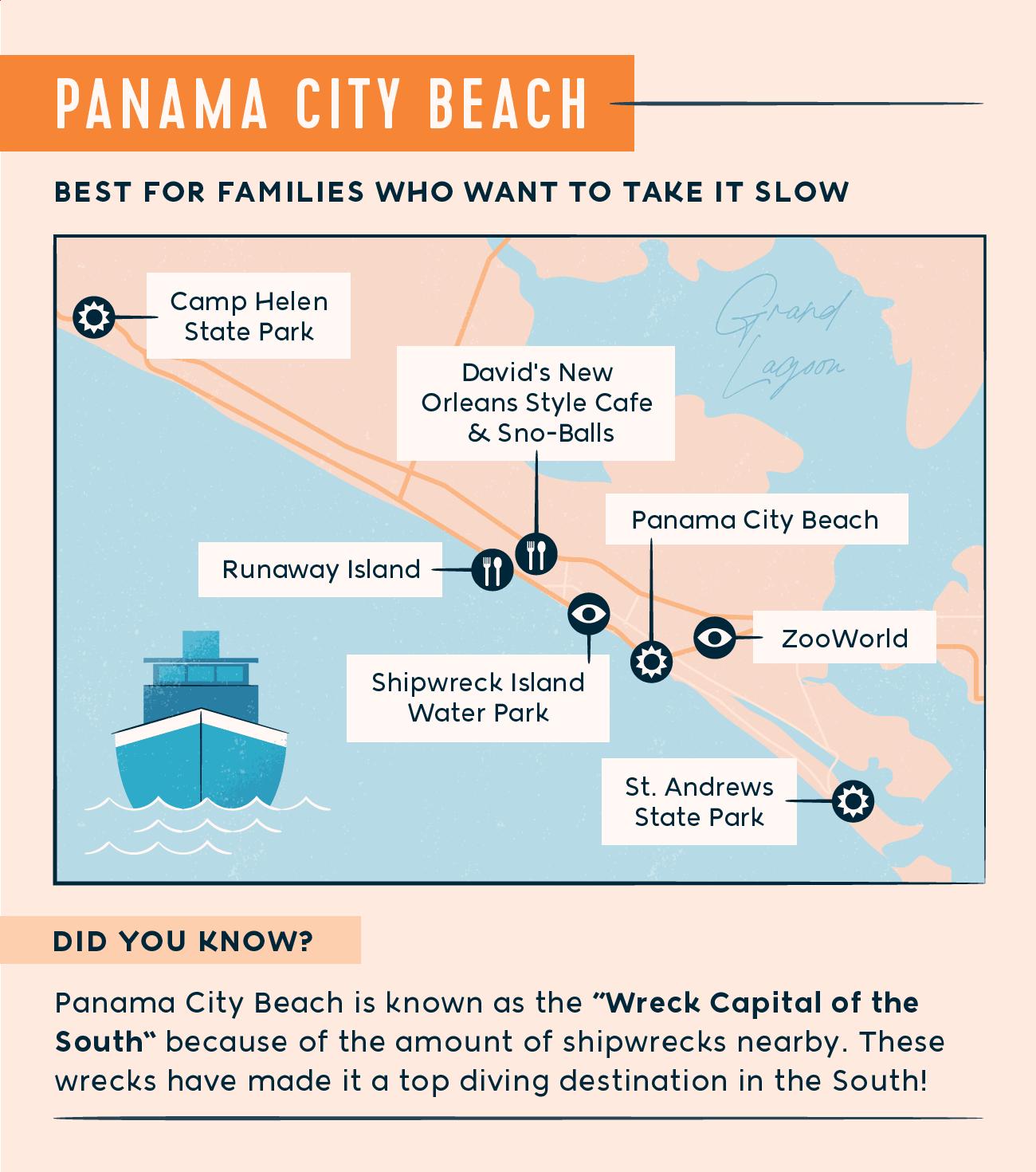 Panama City Beach map