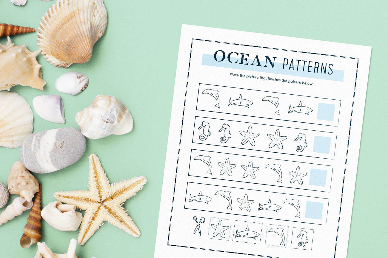 sea friend connect-the dots worksheet