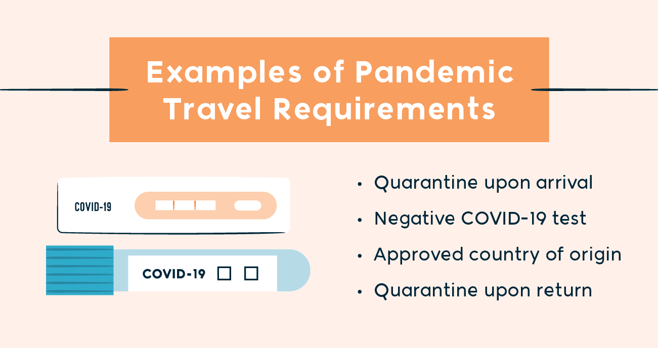 examples of pandemic travel requirements