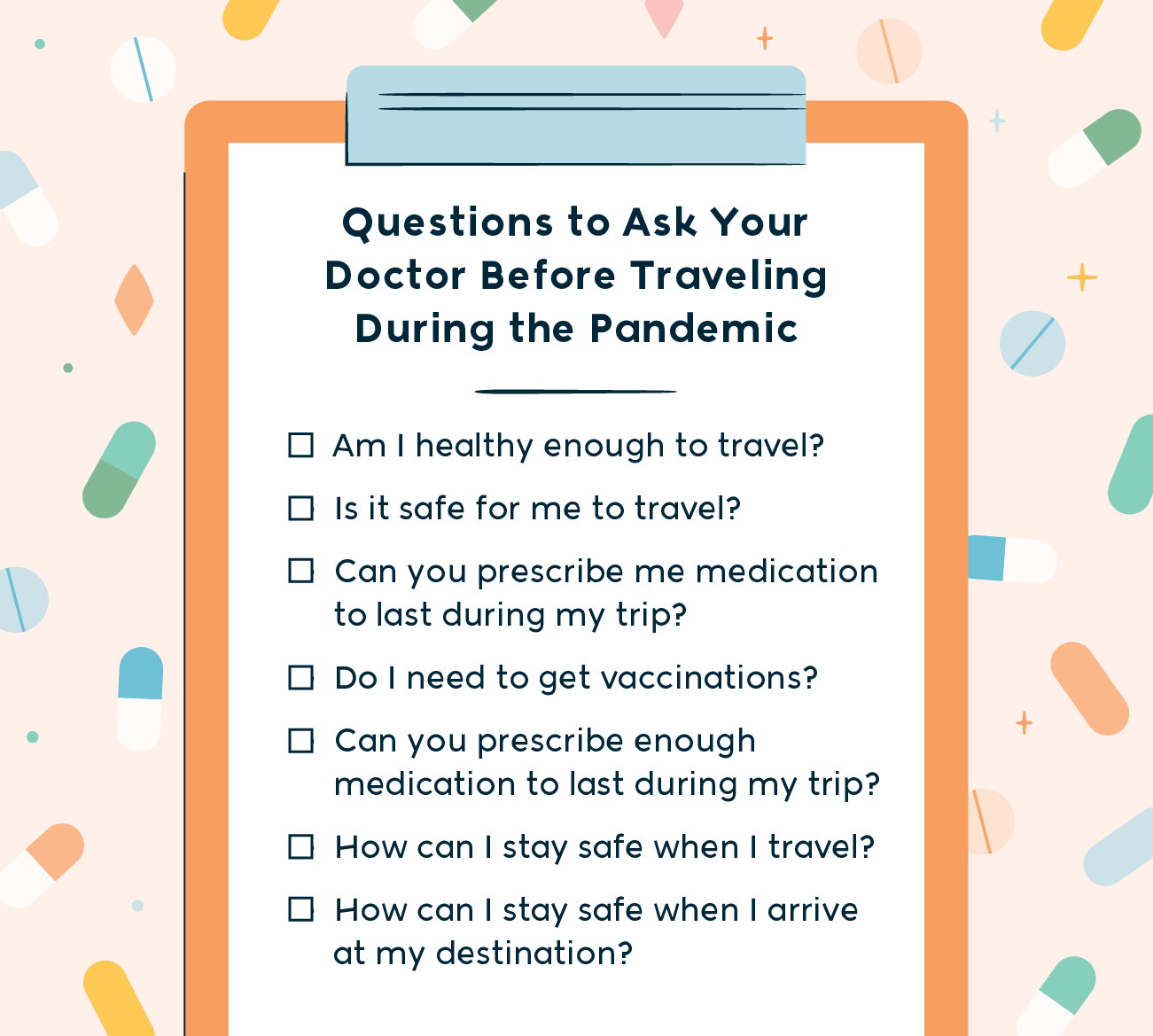 questions to ask your doctor before traveling during the pandemic