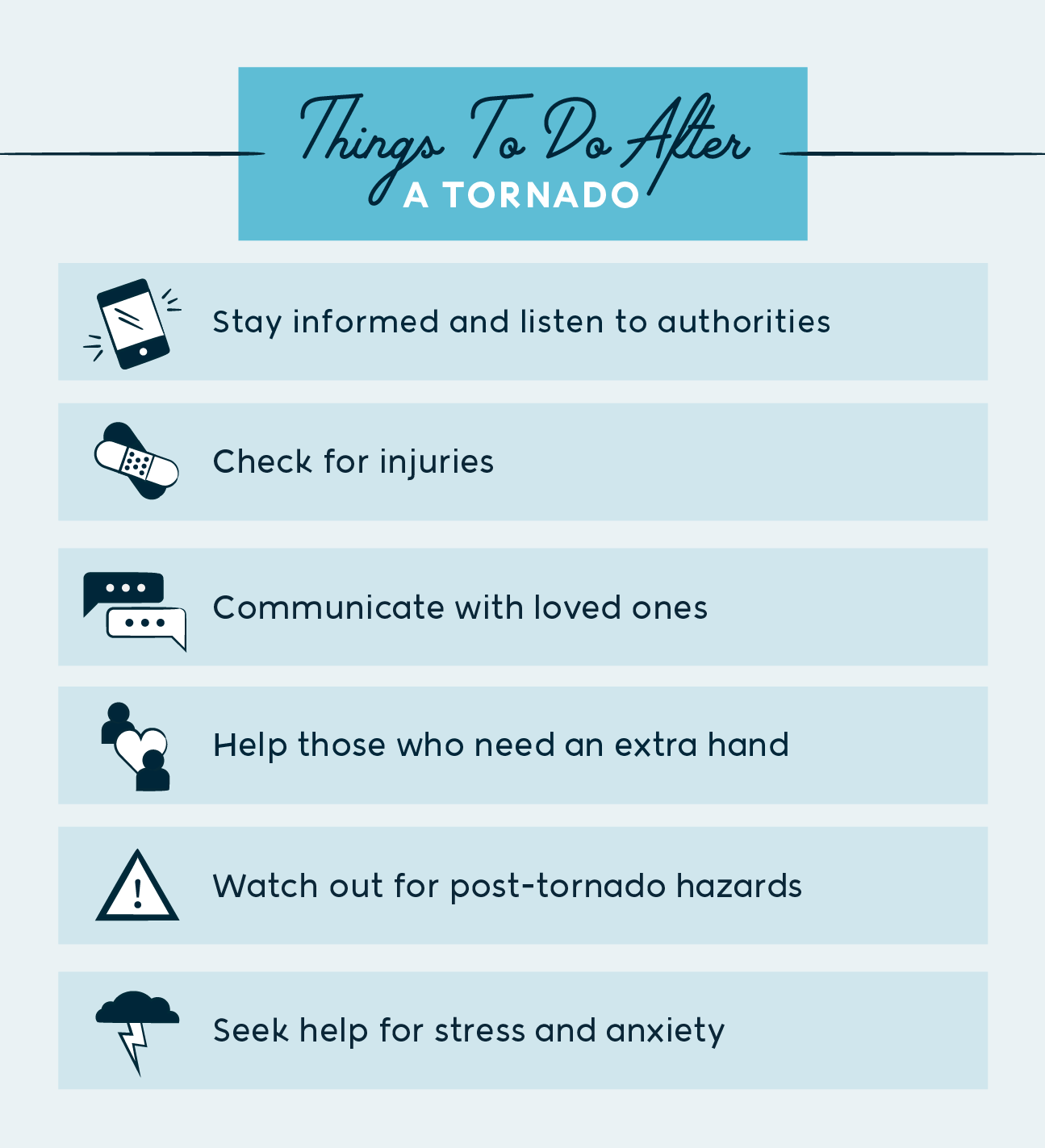 things to do after a tornado
