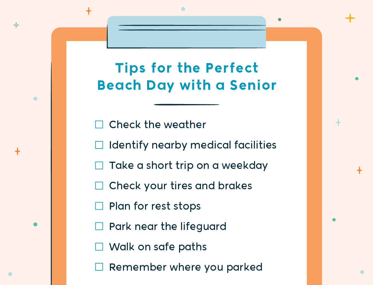 tips for the perfect beach day with a senior